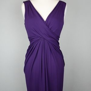 Michael Kohrs Purple Pleated Dress